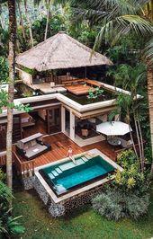 Wenn Sie eine Hütte möchten, können Sie dies in den Tropen tun