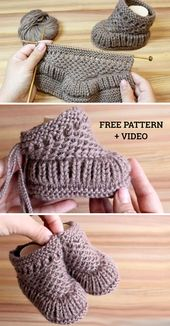 Warm Baby Booties – Free Pattern & Tutorial (Beautiful Skills – Crochet Knitting Quilting)