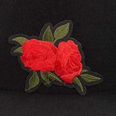 Wool felt flowers church bowler hats vintage women warm hats autumn winter flower decoration wool hat top dome felt hat black – Products