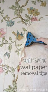 Tips for removing wallpaper from plaster walls (without chemicals!) – Christinas…