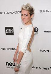 Wir können nicht aufhören (und wir werden nicht aufhören), uns diese sexy Miley Cyrus-Bilder vom roten Teppich anzusehen –  – #Kurzhaarfrisuren