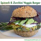 Spinach & Zucchini Veggie Burgers ~ Meatless Monday