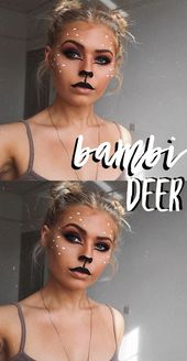 bambi deer makeup tutorial für halloween   – halloween-costumes