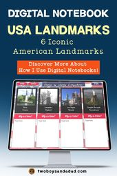 Digital Interactive Notebook of American Landmarks