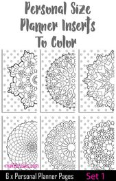 Coloring Page Personal Planner Dividers – Set 1 – Make Breaks
