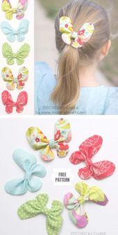 DIY Schmetterling Haarschleife Free Sewing Pattern   Stoffkunst DIY