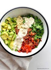 Avocado Bacon Tomato Spinach Corn Salad   She Wears Many Hats