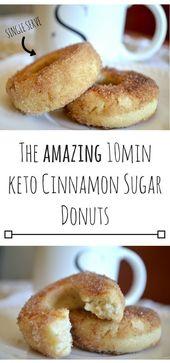 Das Amazing 10min Keto Cinnamon Sugar Donuts ist so lecker! Klicken Sie einfach auf die L …   – All Food Recipes