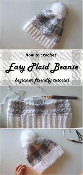 Crochet an Easy Plaid Beanie