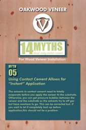 Myth 5 Using Contact Cement Allows For Instant Application The Solvents In Contact Cement Need To Totally Evaporate Before You In 2020 Cement How To Apply Veneers