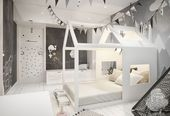 Nursery in Scandinavian style on Behance #behance #childrenroomdecorati … – DIY ideas