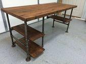 Rustikale zurückgeforderte Scheune Holz Computer Schreibtisch Tisch W / 3 …