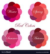 Stock vector seasonal color analysis palettes with…
