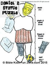 Simple Puzzle And Craft Of King Nebuchadnezzar S Statue From His
