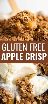 This ultimate gluten free apple crisp recipe is absolutely irresistible! #gluten…