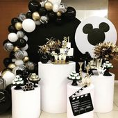 The most famous mouse in the world in black and white !! It's too cute! . from @po …  – Mickey party