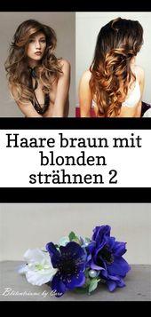 Haare braun mit blonden strähnen #hellbraunhaarfarbe #kurzhaarfrisurendünnesha…