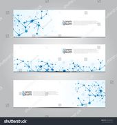 Vector Design Banner Network Technology Medical Stock Vector (Royalty Free) 294499937
