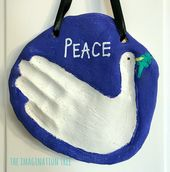 Peace Dove Salt Dough Handprint Keepsake – The Imagination Tree