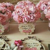 Çiçekli şeker kavanozlari