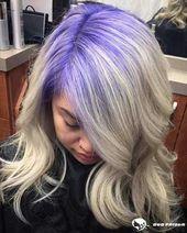 10 Looks die Sie verrückt nach lila Haaren machen 2019-2020  Long Bob Frisuren