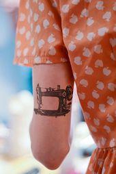 Stitching machine short-term tattoo / classic short-term tattoo / sewer short-term tattoo / crafter short-term tattoo / stitching present concept / crafting