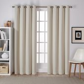 Amalgamated Textiles Sateen 52 in. W x 108 in. L Woven Blackout Grommet Top Curtain Panel in Blush (2 Panels)