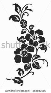 Type 16 Cool scorpion ribbon flower border edge design drawing stencil template
