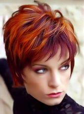 2018 Rote Frisuren – Rote kurze Frisuren und Farben für Damen – Today Pin