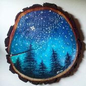 I just love the look of paintings on wood slices so I've decided to make a f…