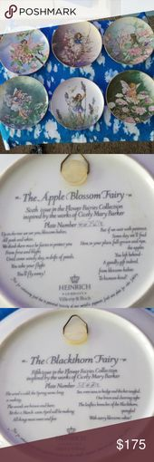 Fairies Collectables Heinrich A The Apple Blossom Fairy Plate 6692 E B The Blackthorn Fairy Plate 5867 E Flower Fairies Beautiful Fairies Apple Blossom