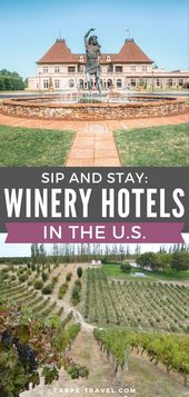 Sip and Keep: Vineyard Accommodations in america
