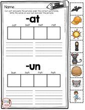 Phonics Unit 4 – CVC Wörter & Wortfamilien FREEBIE – Education