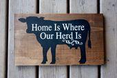 Farm signal decor, cow farmer. dairy, beef, house …