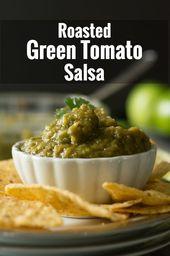 Roasted Green Tomato Salsa – Pepper Bowl