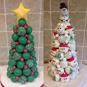 Cake Ball Trees … estos son los mejores dulces navideños   – Süßigkeiten