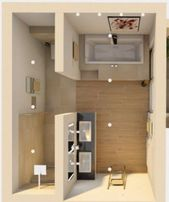 {Senken zur Bodenwand; Toilette mit Tür beim Öffnen blockieren; Duschtür