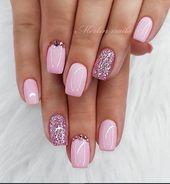 # Acrylnägel # für # Ideen # kurze Quadrate # sommernä   – Spring Nails