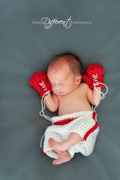 Baby Boxer Gloves And Boxing Shorts Crochet Inspiration So Cute Crochet Baby Clothes Crochet Baby Photo Prop Newborn Crochet Photo Props