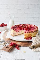 Tarta de queso y grosella   – Rezepte: Kuchen & Torten