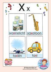 Pakket Over De Letter X Blad 3 Woordkaarten Met Een X Kleuteridee Free Printable K Alfabet Kaarten Leren Lezen Eerste Leerjaar Lezen