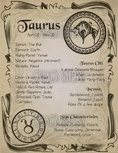 #BookOfShadows #correspondance #zodiac #sign #Taurus    – Wicca