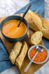 Diese Rote Linsen Suppe ist der Knaller – mit Kokosmilch, Paprika & Curry – *Einfach Malene – Blog Rezepte*