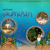 Liebling Aquarium Seite … mit ausgeschnittenen Kreisen für die Bilder & kleine Fische schwimmen …