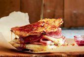 Sandwich Monte Cristo #montecristosandwich Receta Sandwich Monte Cristo | Leite & # 39; …   – orange
