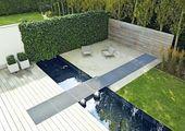 Moderne Terrassengestaltung Mit Wasser|Schner Sitzplatz Mit Wasser Und Sichtschu…