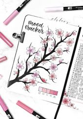 bullet journaling inspiration | mood tracker – #Bu…