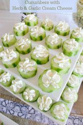 Cucumbers With Garlic Cream Cheese food recipe recipes party ideas party favors …