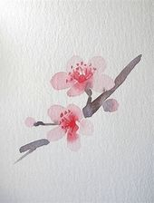 Image result for Japanese flower watercolor for beginners – # Beginner #Picture … – Merys Stores