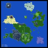 Lufia Ii 2 Overworld Poster Map 24 X 24 For The Super Nintendo